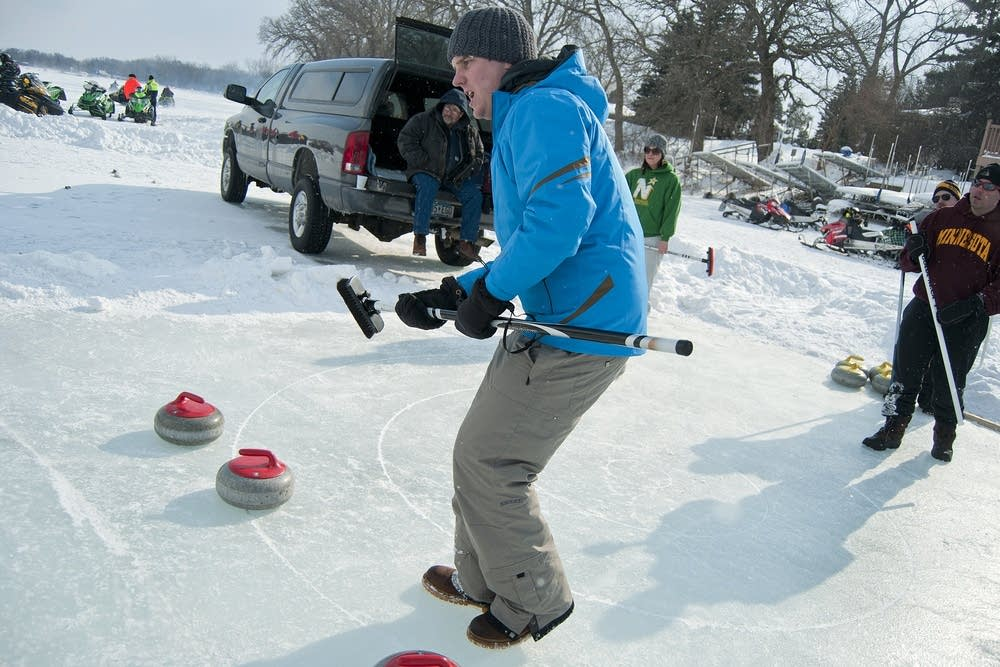 Bruce Morgan of the Frogtown Curling Club