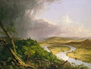 Thomas Cole, 'The Oxbow' landscape painting.