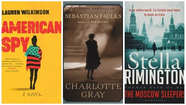 Book covers for 'American Spy,' 'The Moscow Sleepers' and 'Charlotte Gray'
