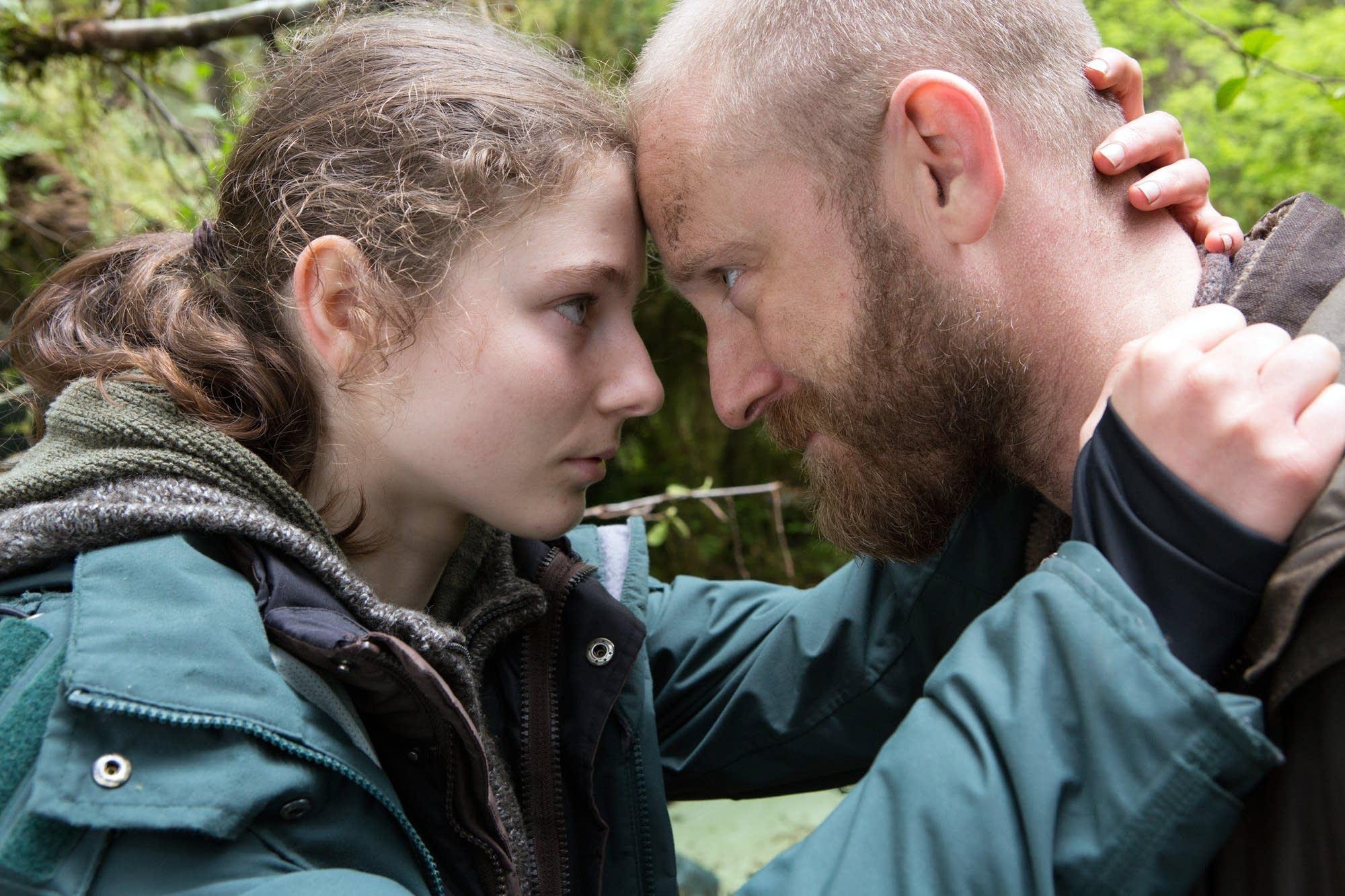 Thomasin Harcourt McKenzie and Ben Foster in Debra Granik's new movie.