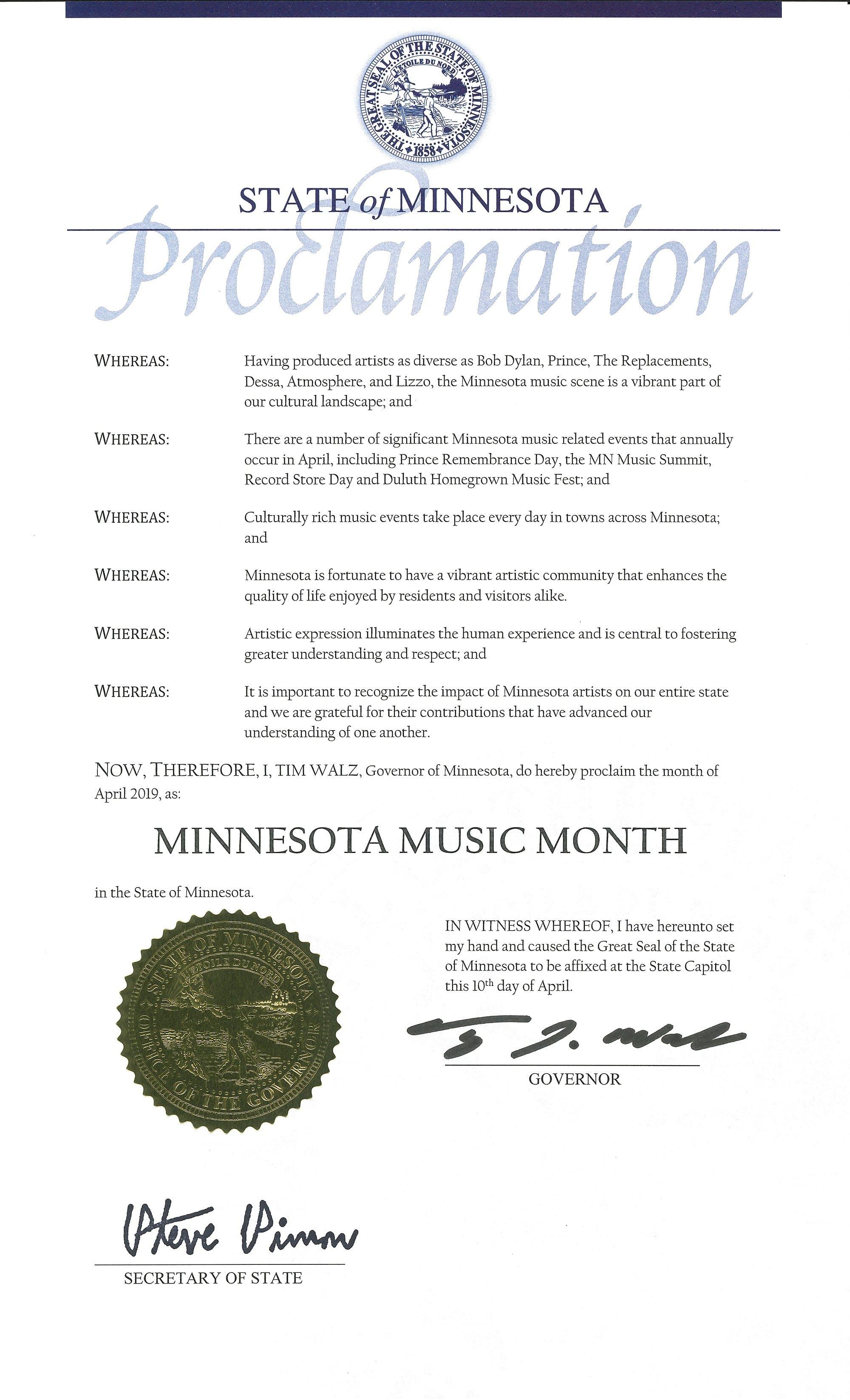 Minnesota Music Month