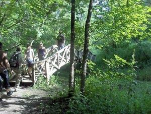 Footbridge at Whitewater State Park