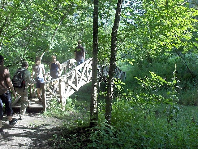 Footbridge at Whitewater State Park