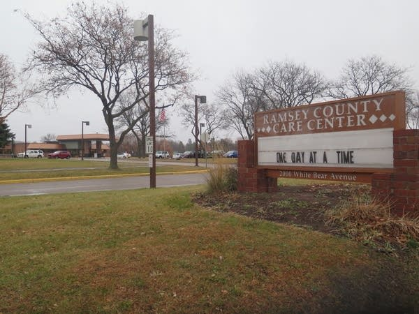 A sign outside a long-term care facility