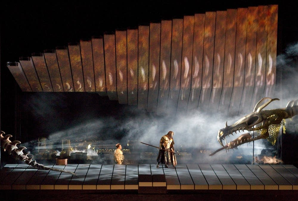 A scene from Wagner's Das Rheingold