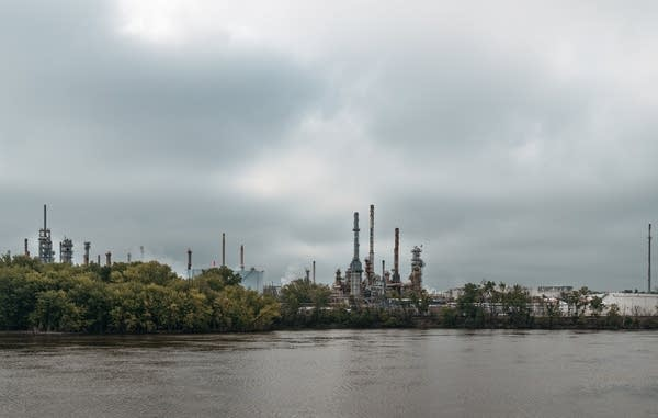 The St. Paul Park refinery on the Mississippi River