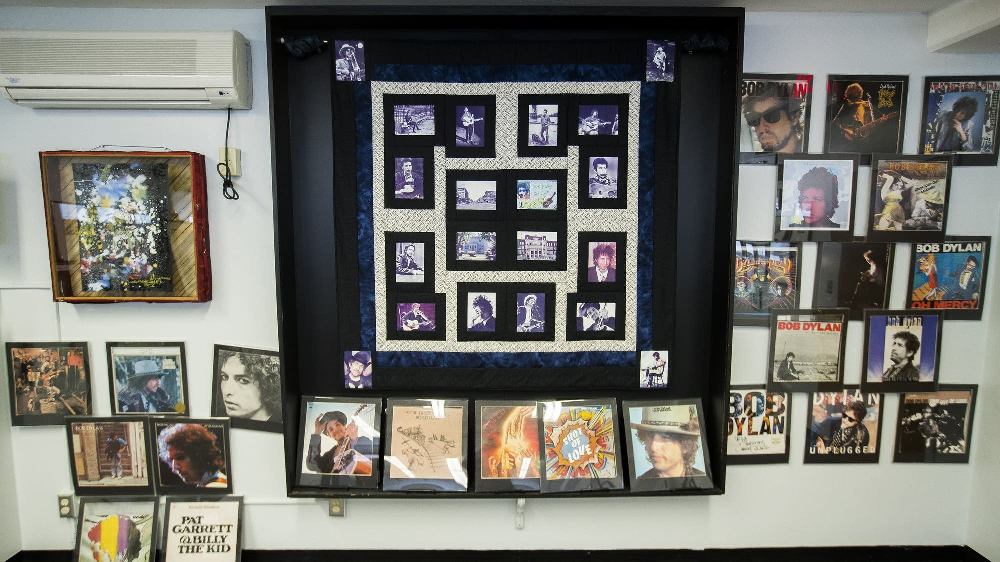 Bob Dylan exhibit at the Hibbing Public Library
