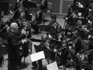 Mark Russell Smith with the string section