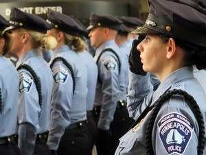 Members of the Mpls. Police Department honor guard