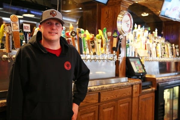 Bartender Mitch Anderson of Kelly's Bar in Red Wing
