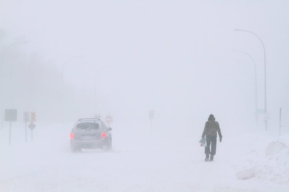 Walking in a whiteout