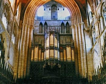1878 Lewis organ at Ripon Cathedral, England, UK
