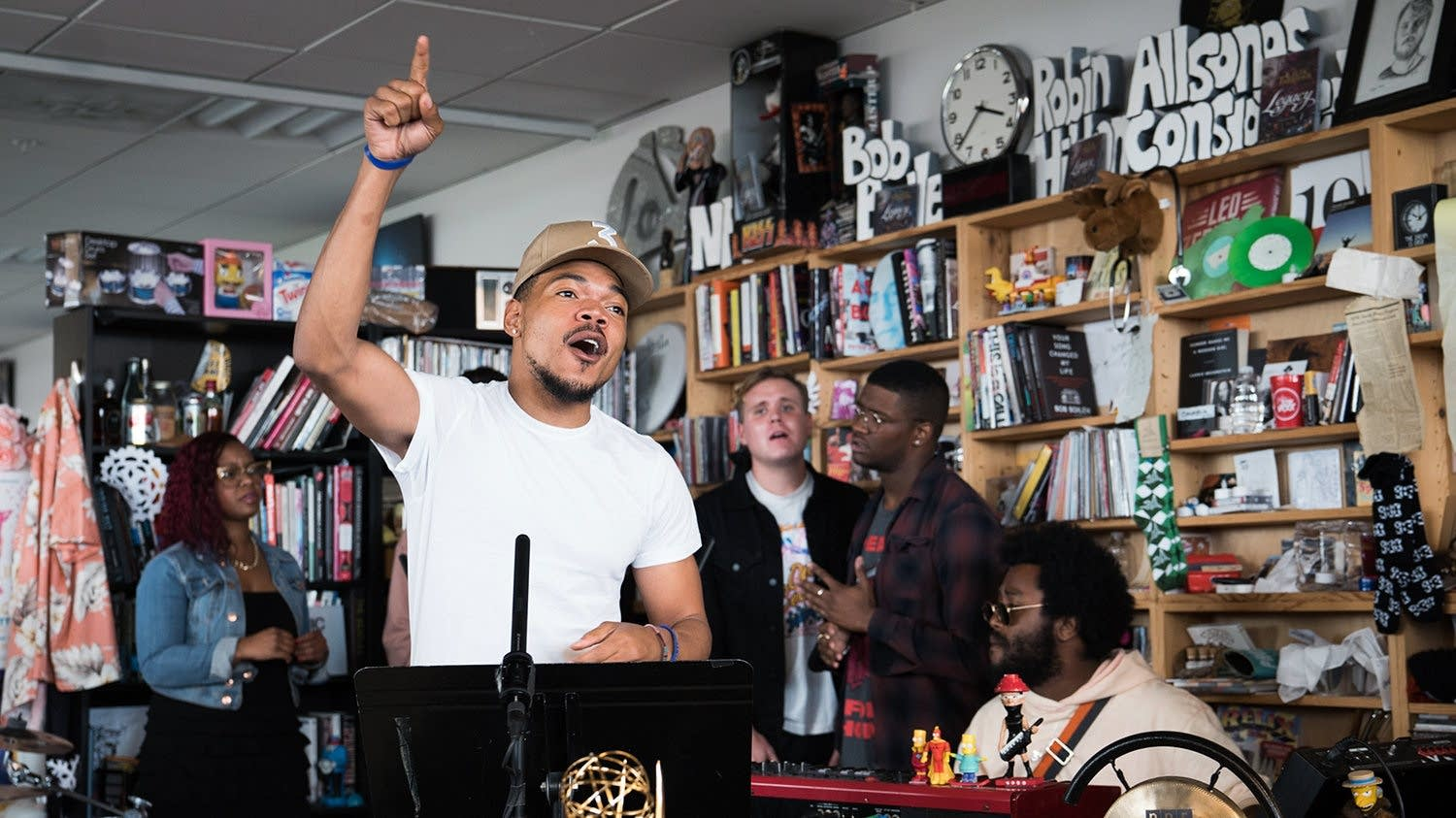Chance the Rapper performs at NPR's Tiny Desk