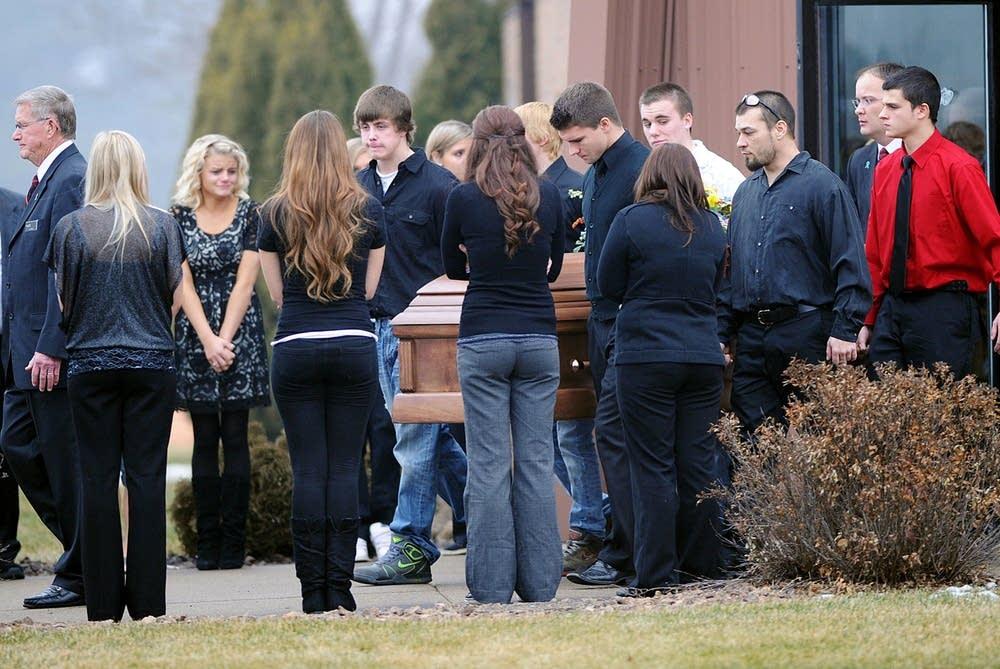 Nicholas Brady's funeral in 2012