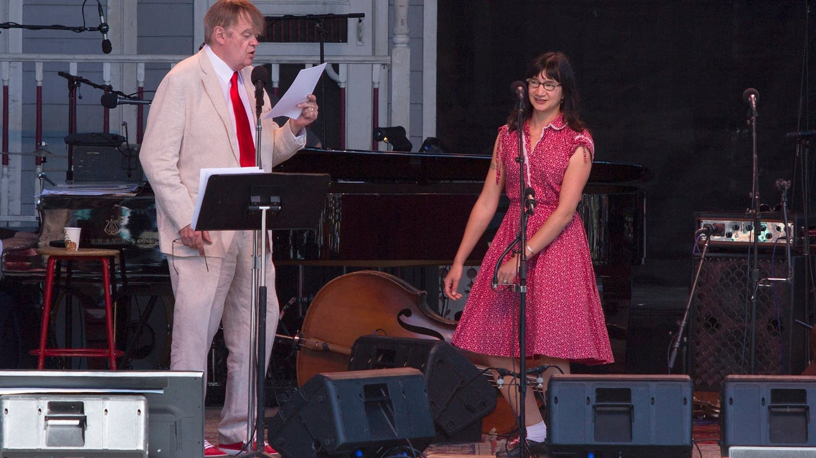 Garrison Keillor and Charmaine Slaven