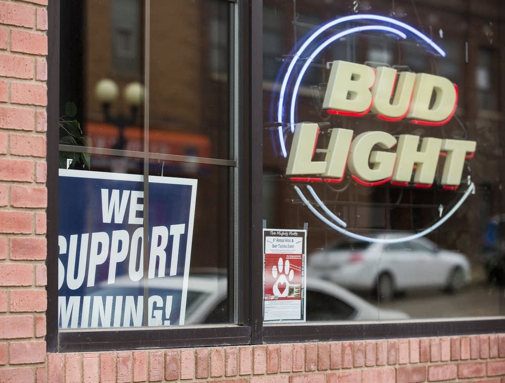 Support for mining in downtown Chisholm.