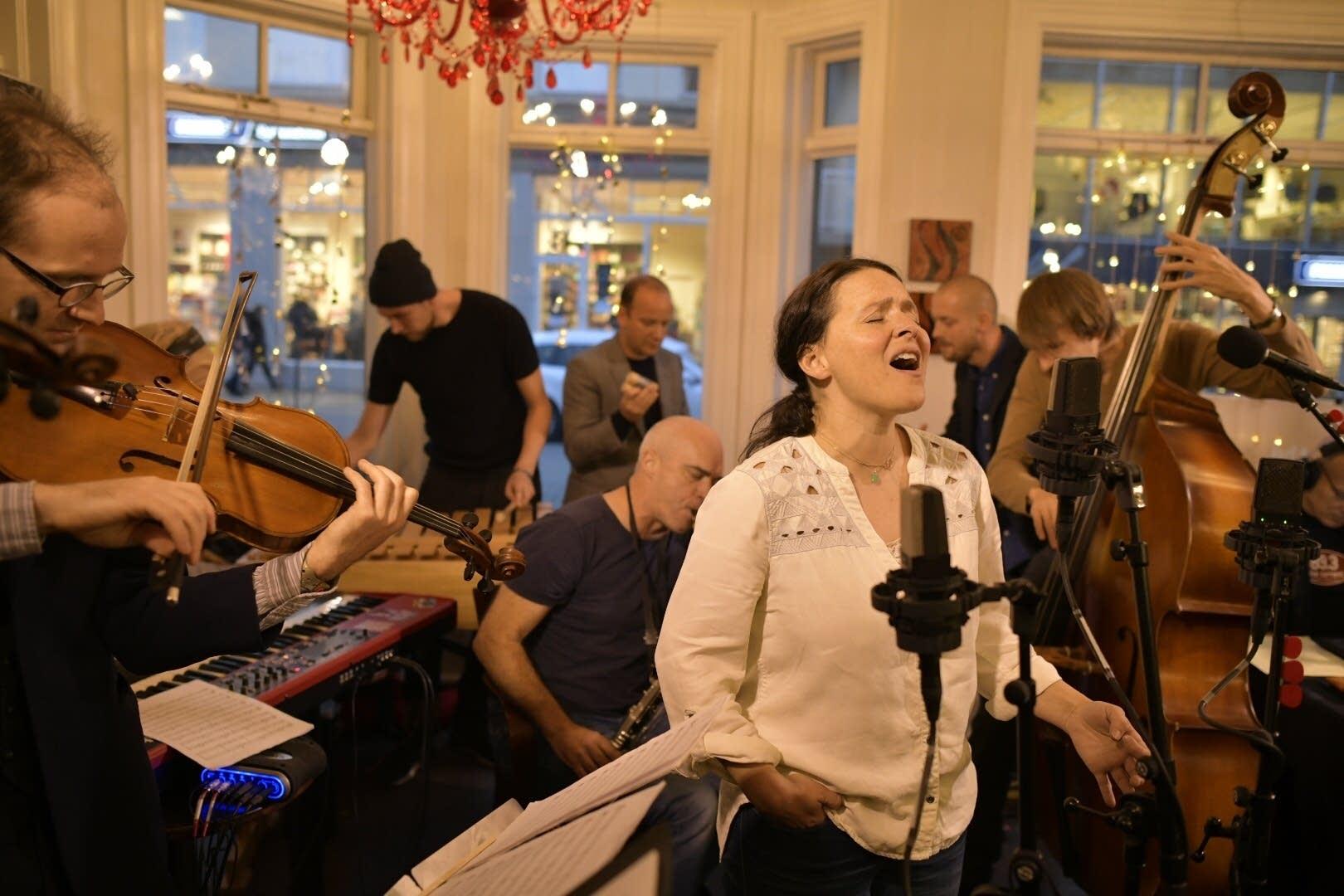Emiliani Torrini and the Colorist perform in Akureyri, Iceland