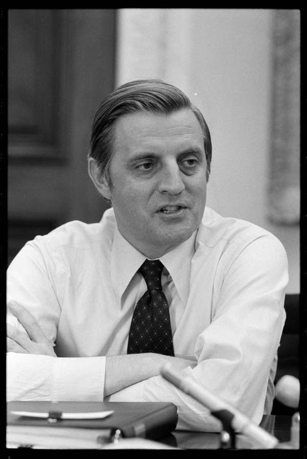 Portrait of  Walter Mondale, shortly after he became vice president.