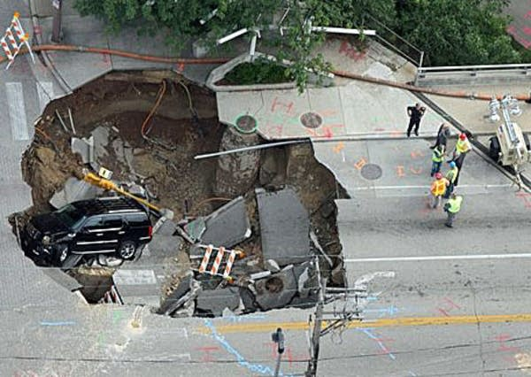 Sinkhole in Milwaukee