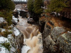 The Temperance River flows on its way to Lake Superior.
