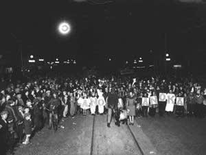 Halloween party in Anoka, c. 1925.