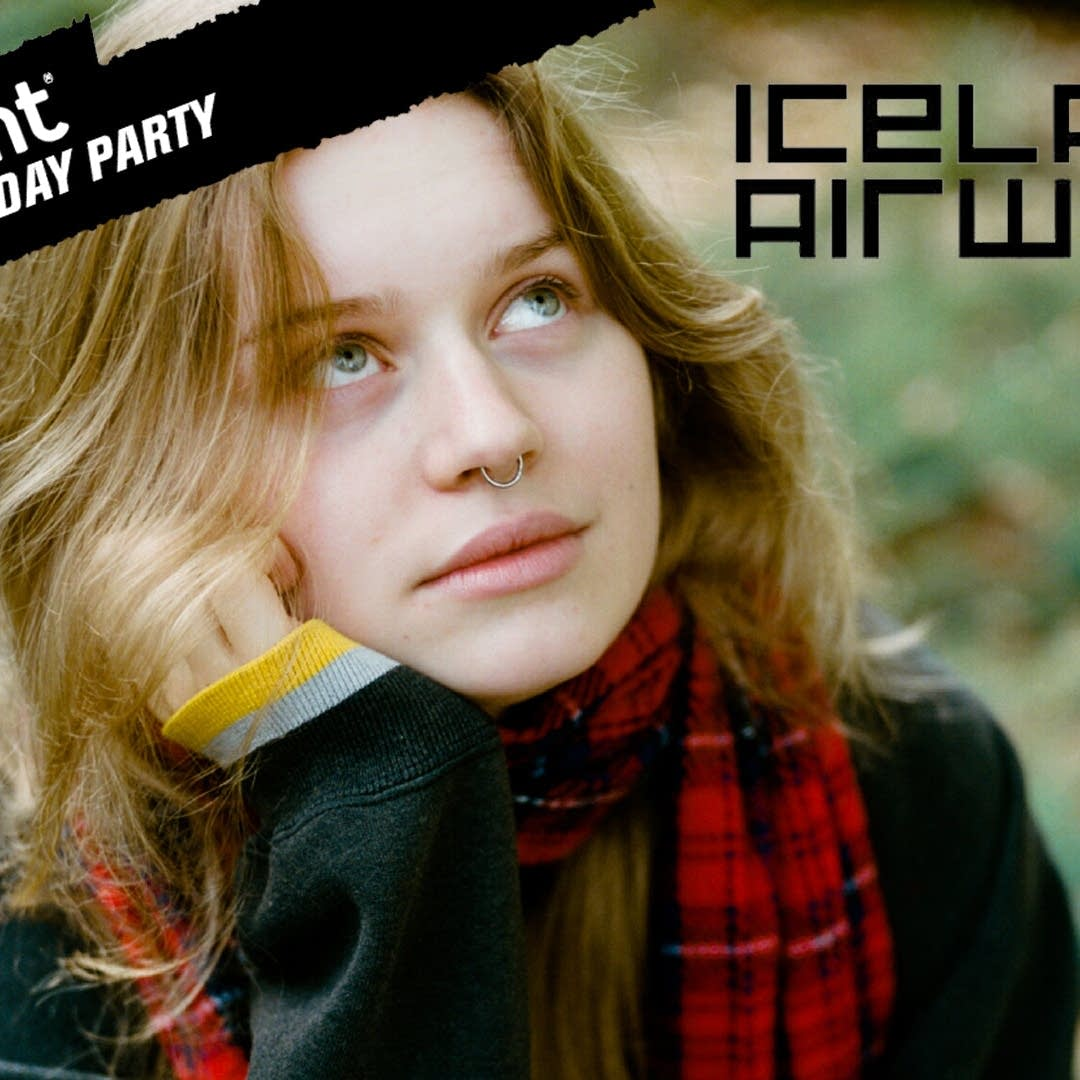girl in red at Iceland Airwaves