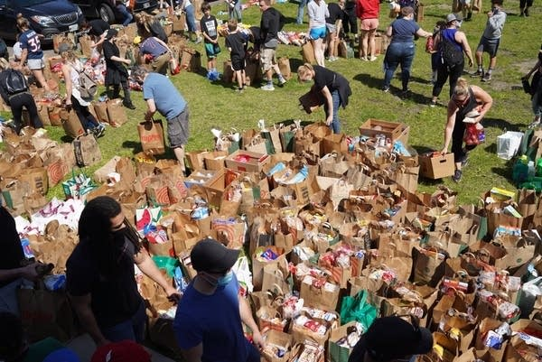 Food and item donations.