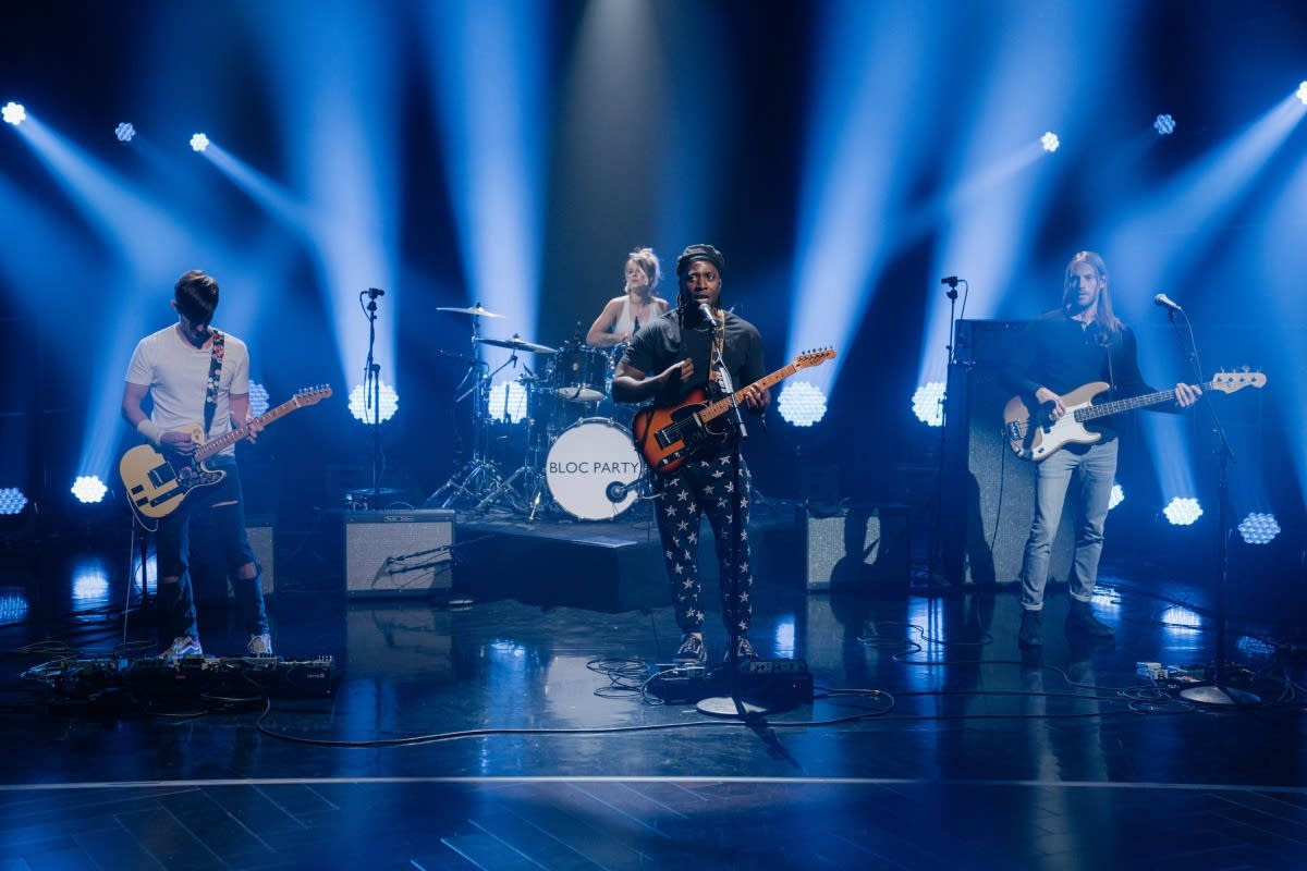 Bloc Party performing on 'The Late Late Show with James Corden'
