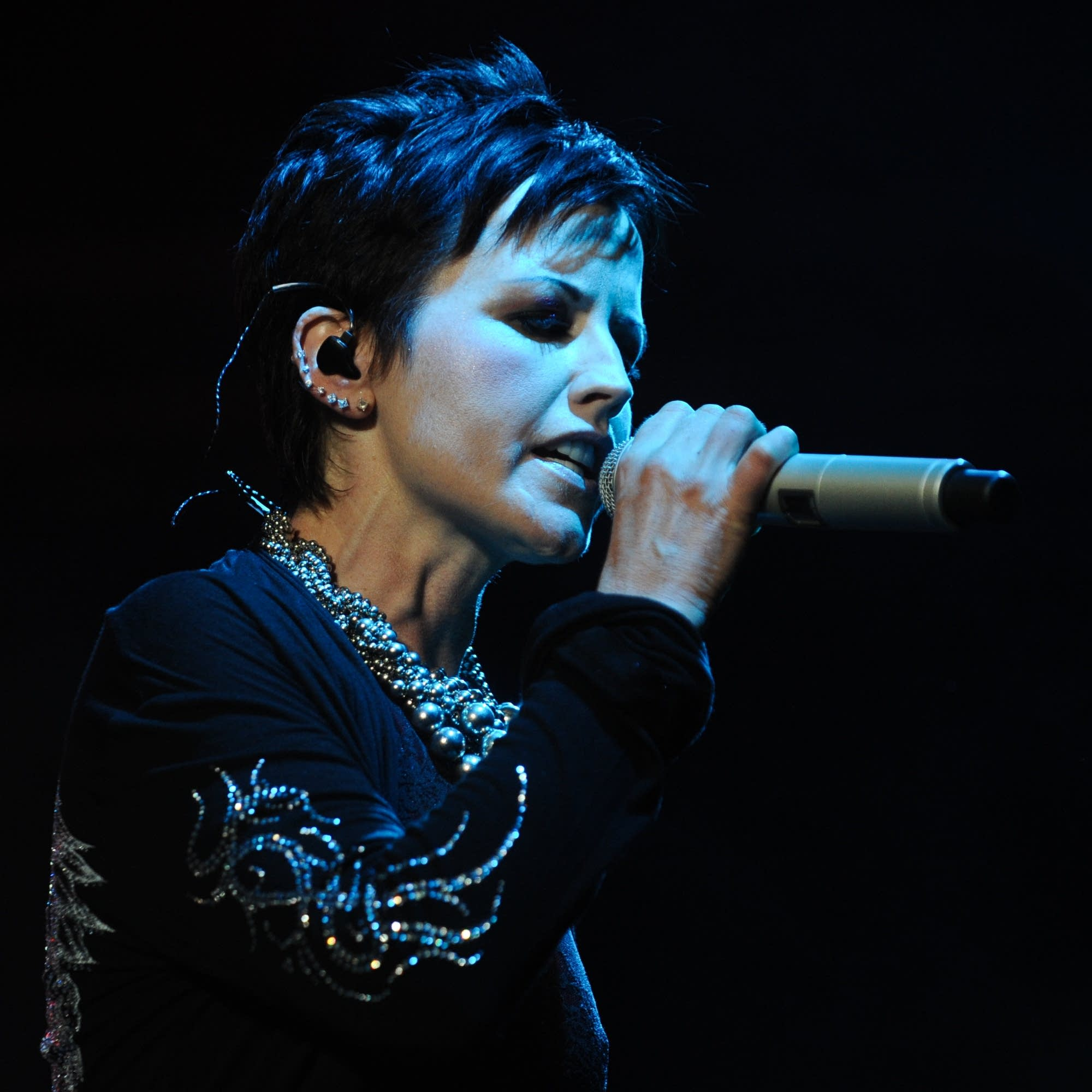 Singer Dolores O'Riordan of the Cranberries.