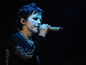 Singer Dolores O'Riordan of the Cranberries.