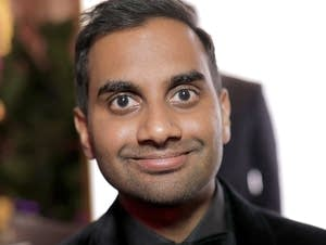 Actor/producer Aziz Ansari attends the after party of The Golden Globes.