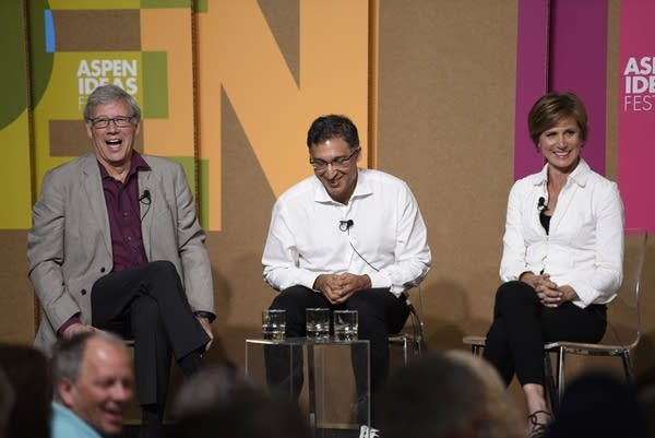 Geoffrey Stone, Neal Katyal, and Sally Yates at the Aspen Ideas Festival.