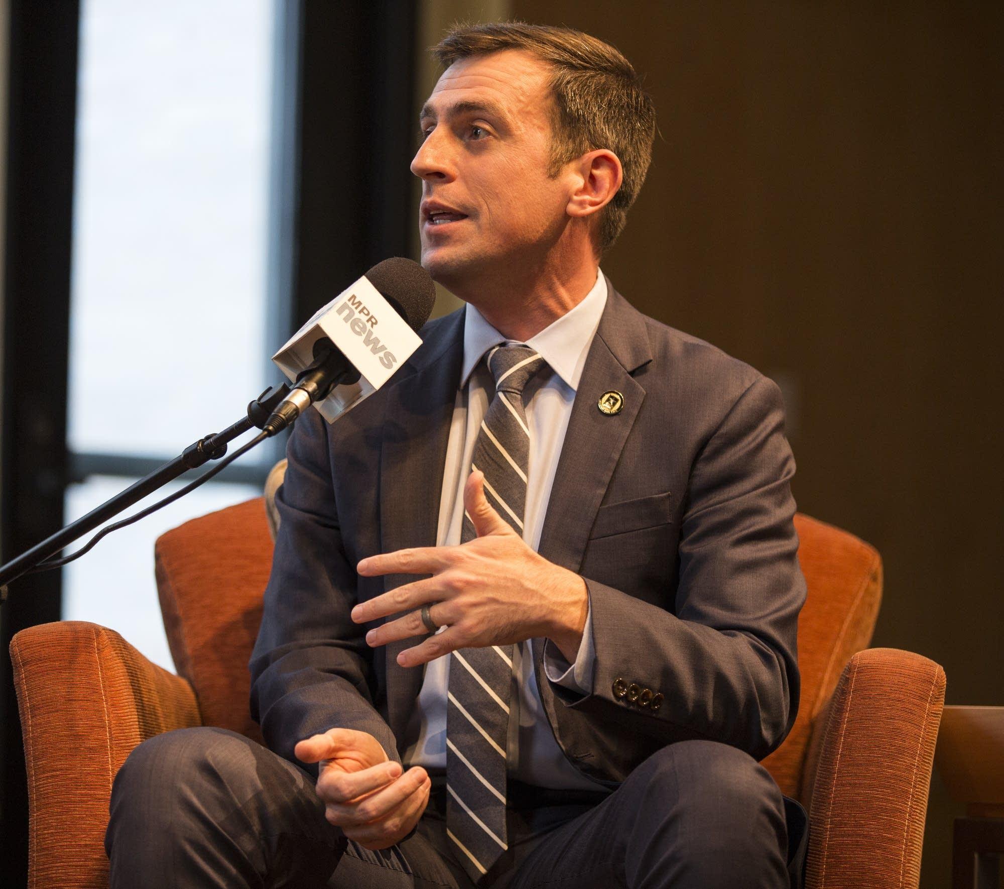 Democrat candidate Dan Feehan speaks at MPR News debate.