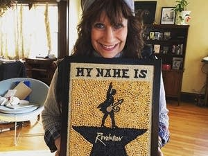 Lizz Winstead on Instagram with seed art