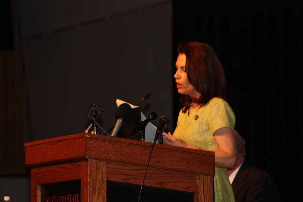 Rep. Michele Bachmann speaks in St. Cloud
