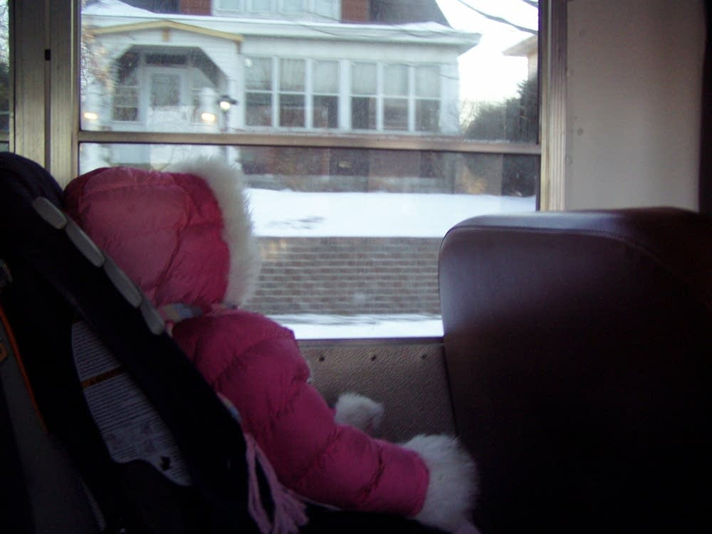 The bus ride to school