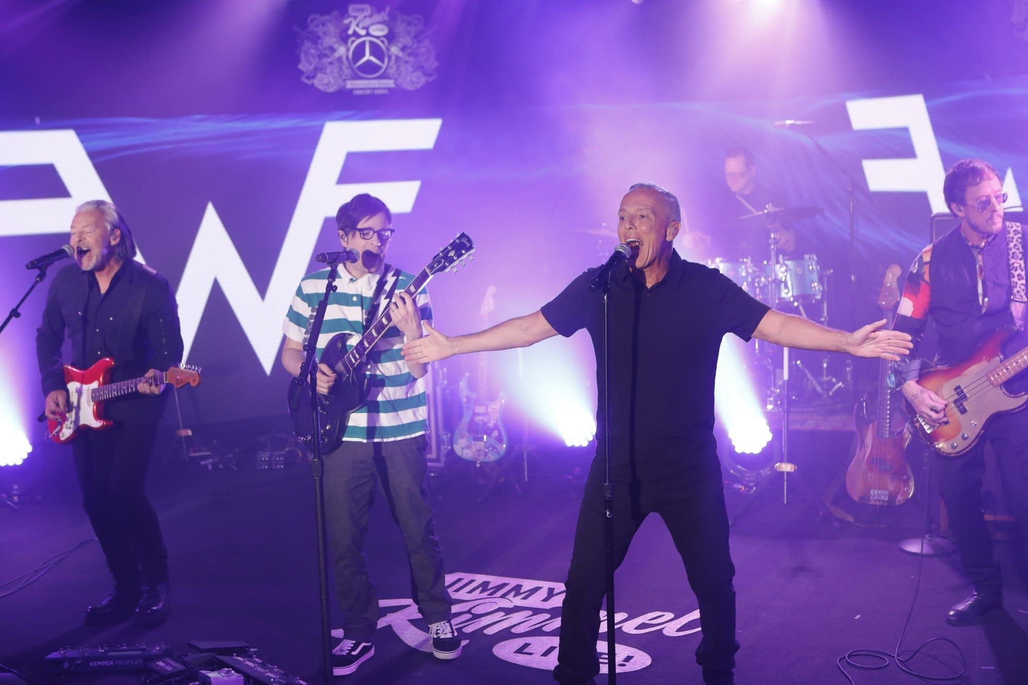 Weezer and Tears for Fears performing on 'Jimmy Kimmel Live!'