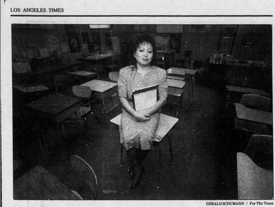 Laura Reyna in a Los Angeles Times photo.