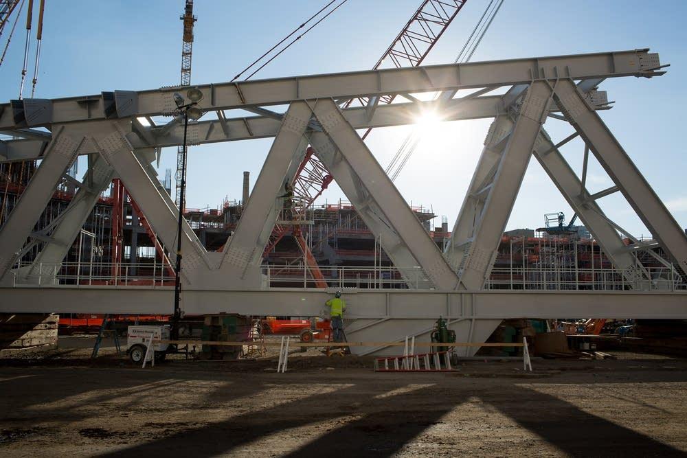 Photos: Vikings stadium construction on schedule ...