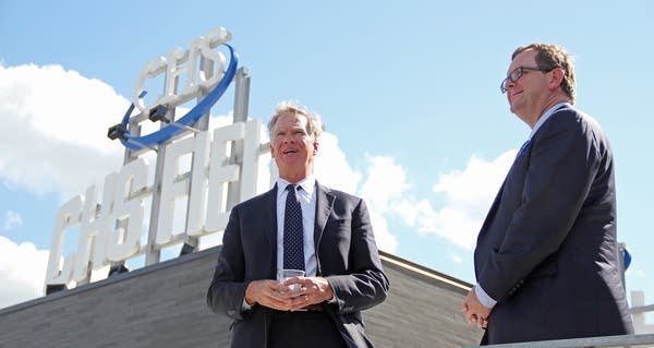 Mayor Coleman showed off CHS Field.