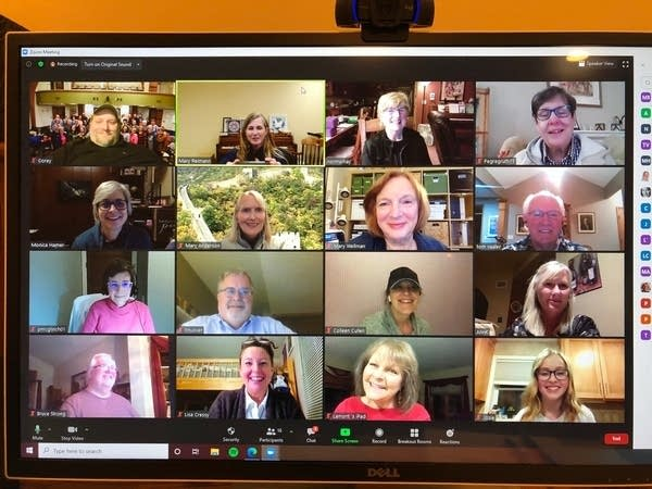 A screengrab of a group Zoom video call.