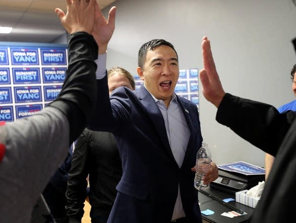 Democratic presidential candidate Andrew Yang
