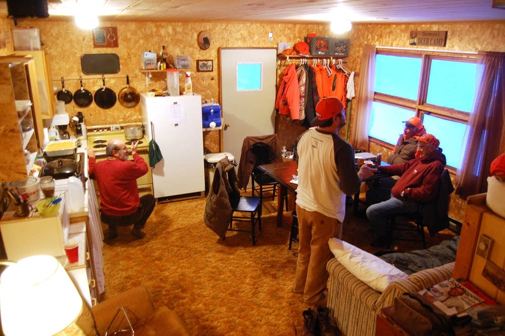 In the hunting shack