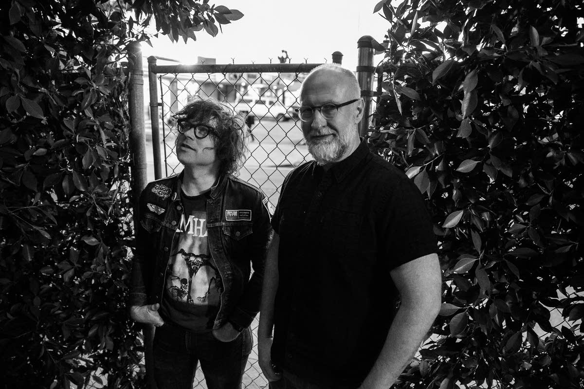 Ryan Adams and Bob Mould outside PAX-AM Studios