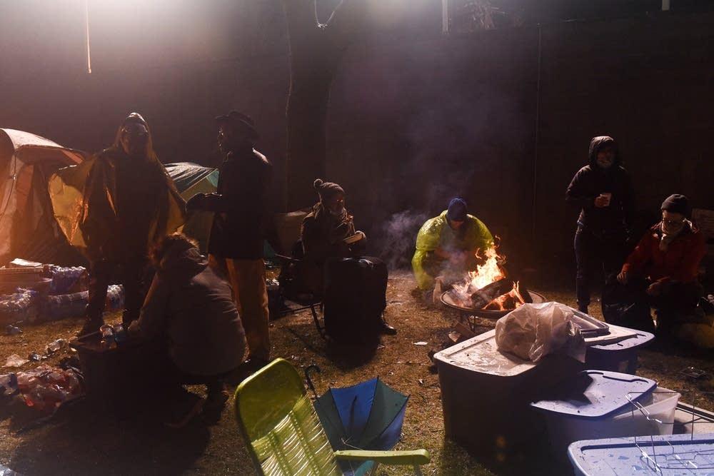 Protest encampment