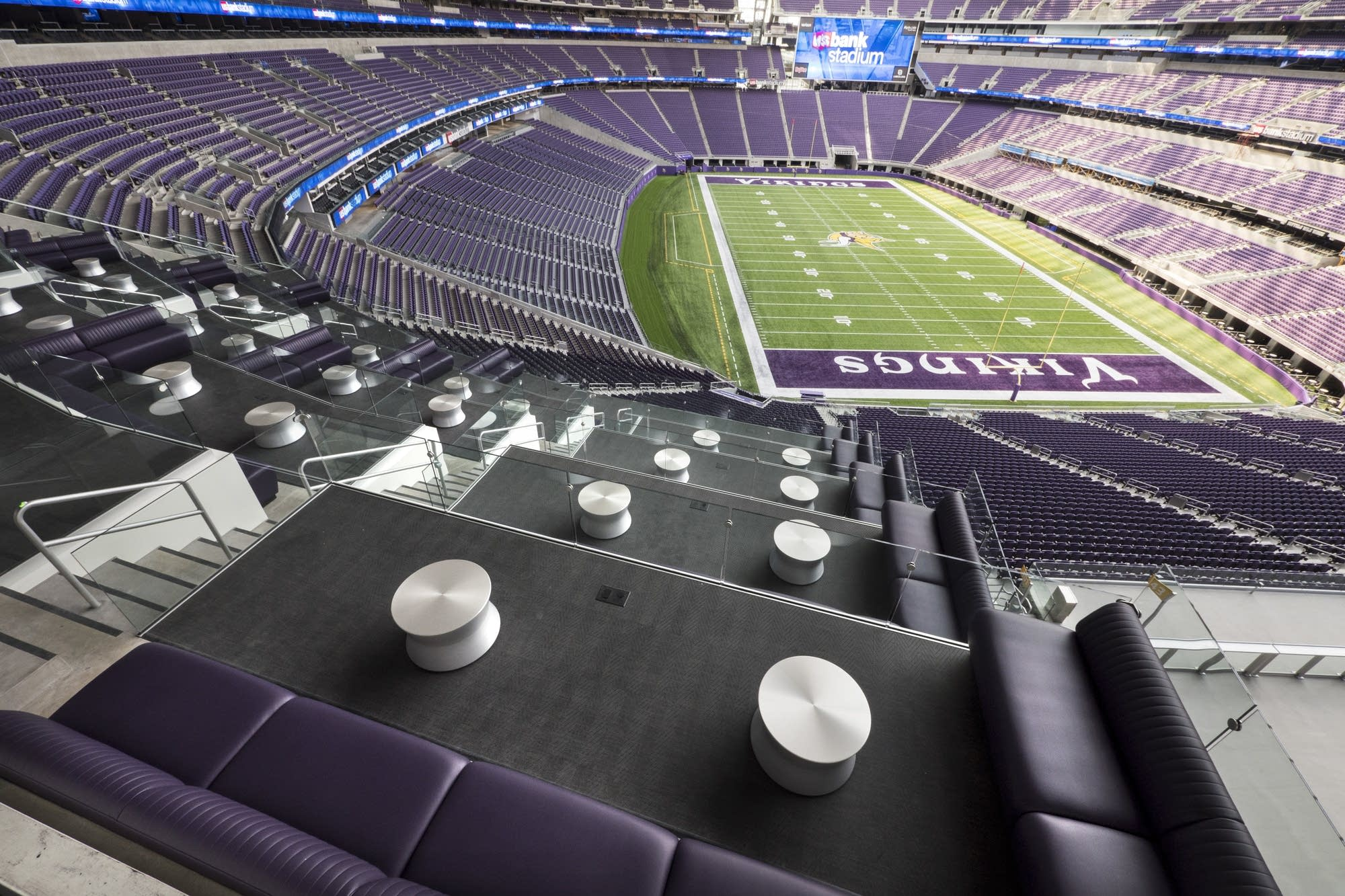 Lounge areas in the seats
