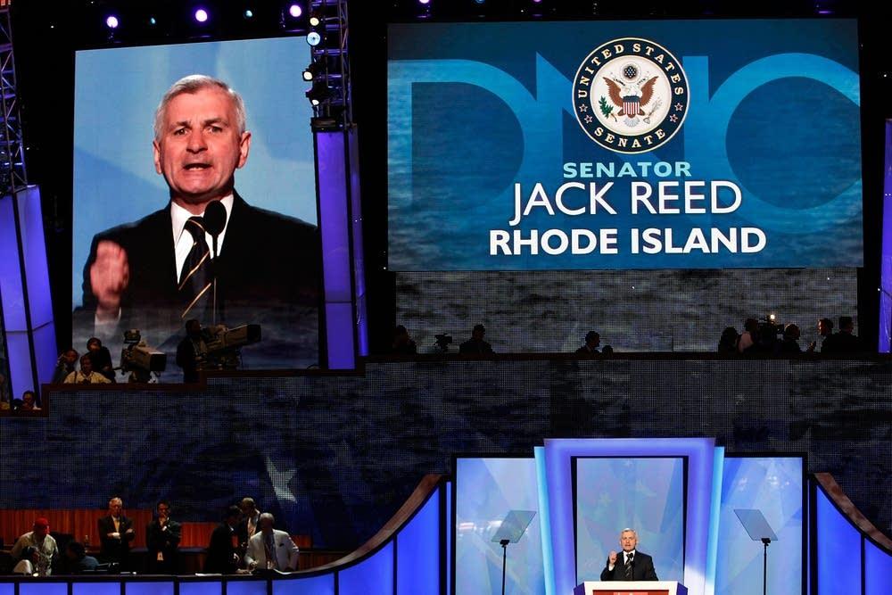 U.S. Sen. Jack Reed addresses assembled delegates