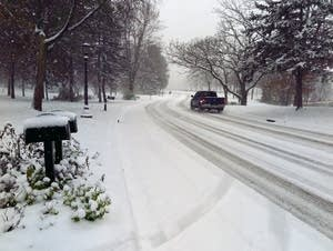 A snowy East Shore Drive in St. Paul.