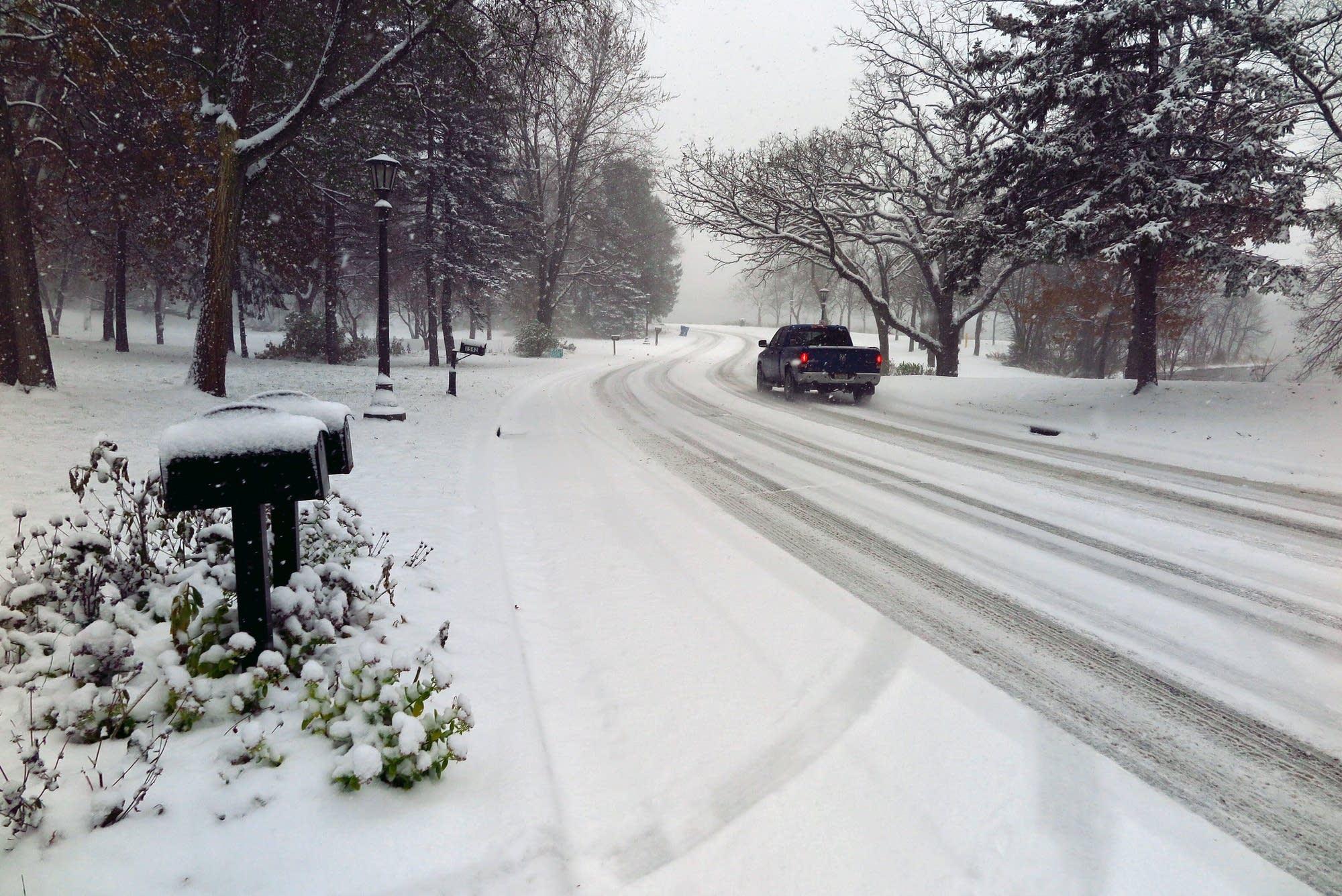 A snowy East Shore Drive in St. Paul.
