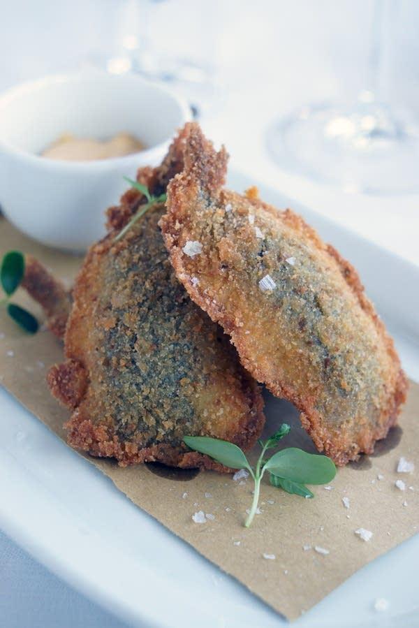 Fried Sardines with Salsa Ruggine